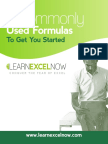 Learn Excel Now_8 Commonly Used Formulas