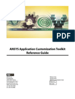 ANSYS Application Customization Toolkit Reference Guide