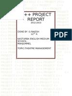 Movie Theather Management