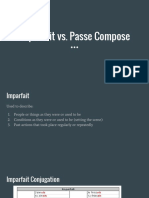 Imparfait vs Passe Compose