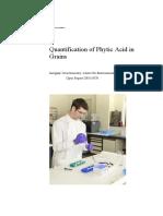 Quantification of Phytic Acid in Grains