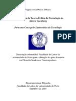 Feenberg - Para Uma Concepção Democrática Da Tecnologia