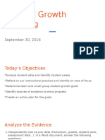 student growth planning