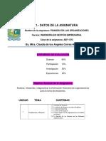 Material de Apoyo Finanzas en Las Organizaciones