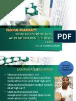 Medication Error & High Alert Medication (Yulia)