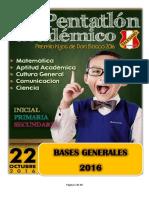 Bases Generales Pentatlón 2016