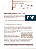 Letting the Holy Spirit Lead Rev Derek Prince