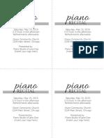 Recital Invitation and Program Template 5 - ColorInMyPiano