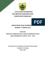 Perdes Rpjmdes 2016-2021