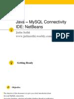 Step by Step Java MySQL Connectivity V1.0