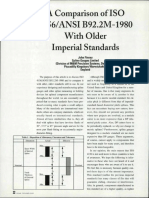 Comparison of ISO 4156 With Older Imperial Standards