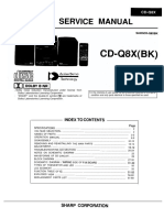 SHARP CD-Q8X Service Manual