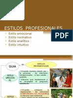 ESTILOS  PROFESIONALES