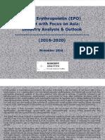 Global Erythropoietin (EPO) Market with Focus on Asia