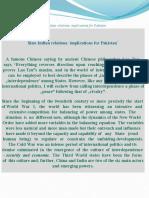 Sino-China Implication for Pakistan