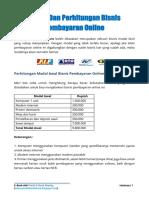 E-Book Modal Dan Perhitungan Bisnis Pembayaran Online