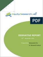 DERIVATIVE REPORT 23 Nov 2016 Equityresearchlab