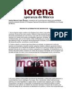 MORENA Proyecto Alternativo de Nación 2018 - 2024