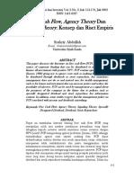 Free Cash Flow, Agency Theory dan Signaling Theory