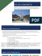 Planta de Concreto del Parque Eólico Tres Hermanas
