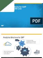 Analytics Solutions for SAP S4 HANA and HANA Live March 2016