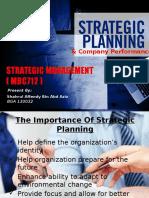 Strategic Planning n Company Performance