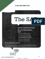 Sat2014年5月q&A