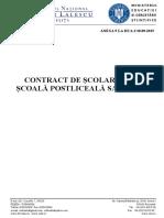 Contract Scolarizare Postliceala 2015 2016