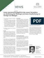 WEGnews Dullinger Immobilien Verwaltung Keine Nachforschungspflicht Des Neuen Verwalters