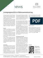 WEGnews Dullinger Immobilien Verwaltung Kuendigungsverzicht Im Wohnraummietvertrag