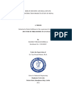 """Ph.D. Thesis-""""Risk In Housing and Real estate Construction Project Study in Nepal"""""""