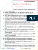 Current Affairs Pocket PDF - October 2016 by AffairsCloud