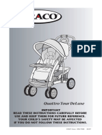 Graco Quattro Tour Deluxe TSB - Instruction Manual