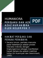 Perilaku Dan Azaz-Azaz Humaniora