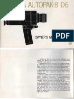Minolta Autopak Super 8 D6 Manual English