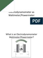 Week 03 Electrodynamometer as Wattmeter - ECE132 3T 2014-15