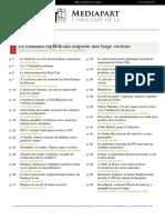 Journal actualité française et internationale Novembre 2016