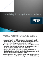OD Assumptions and Values