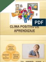 Clima Positivo de Aprendizaje