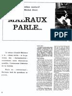 Interview d'André Malraux par Michel Droit en octobre 1967 parue dans Le Figaro Littéraire