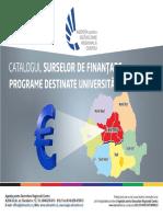 Catalogul Surselor de Finantare_Universitati_actualizat Pe 8 Aprilie 2016