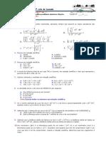 Teste Potencias Notacao Cientifica e Problemas Com Funcoes1