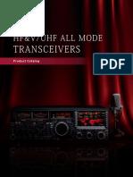 Yaesu - Leaflet Hf Vuhf All Mode Transceivers