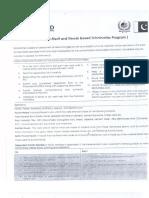 PAK-USAID Merit and Needs Based Scholarship Program 2016-17