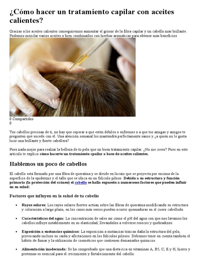 Cómo Hacer Un Tratamiento Capilar Con Aceites Calientes ad2b6a2b7265