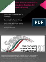 De La Competencia de Las Secretarías de Estado