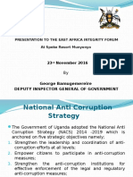 The Complete Inspectorate Of Government's Presentation to the East African Revenue Authorities 4th Integrity Forum.