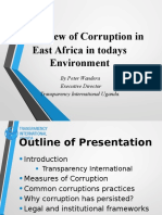 Corruption Trends in East Africa In Today's Environment By Peter Wandera (Transparency International Uganda)
