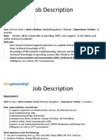 Job Description - L1