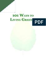 101 WAYS TO LIVING GREENER